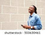 portrait of young african woman ... | Shutterstock . vector #503630461