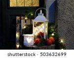 outdoor christmas decoration | Shutterstock . vector #503632699