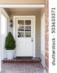 inviting white front entrance... | Shutterstock . vector #503633371