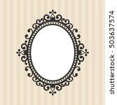 vintage mirror on the...   Shutterstock .eps vector #503637574