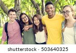 diverse group young people... | Shutterstock . vector #503640325