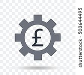money icon. pound sign in gear... | Shutterstock .eps vector #503644495