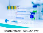 syringe  medical injection and... | Shutterstock . vector #503654599