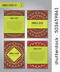 tribal mandala design set....   Shutterstock .eps vector #503659861