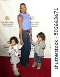 Small photo of LOS ANGELES - OCT 23: Gaia Jissel Ramirez Land, Dania Ramirez, John Aether Ramirez Land at the A Time For Heroes Event at Smashbox Studios on October 23, 2016 in Culver City, CA