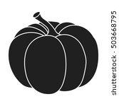 pumpkin icon in black style... | Shutterstock .eps vector #503668795