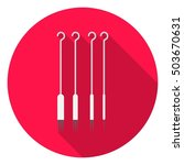 tattoo needles icon in flat... | Shutterstock .eps vector #503670631