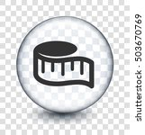 measuring tape on transparent... | Shutterstock .eps vector #503670769