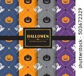 Halloween Pattern Set. Set Of ...
