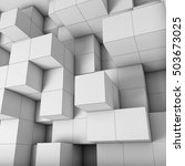 structural design cubes with... | Shutterstock . vector #503673025