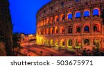 the colosseum or coliseum  also ... | Shutterstock . vector #503675971