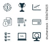 set of 9 universal editable... | Shutterstock .eps vector #503676025