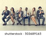 business team working break... | Shutterstock . vector #503689165