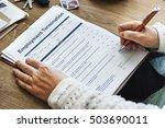 employment termination form... | Shutterstock . vector #503690011