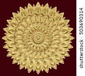 golden mandala  indian ornament.... | Shutterstock .eps vector #503690314