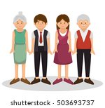 group family members characters | Shutterstock .eps vector #503693737