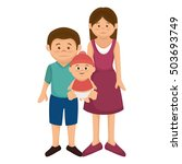group family members characters | Shutterstock .eps vector #503693749