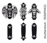 skateboarding t shirt design... | Shutterstock .eps vector #503694421