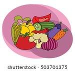 vegetables design set. cartoon...