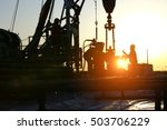 oil drilling exploration  the... | Shutterstock . vector #503706229