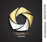 3d gold silver swirl logo  ...   Shutterstock .eps vector #503707459