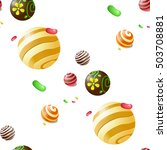 seamless vector pattern with... | Shutterstock .eps vector #503708881