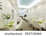 restaurant in a luxury hotel   | Shutterstock . vector #503718484
