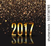 happy new year design layout on ... | Shutterstock .eps vector #503738785