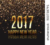 happy new year design layout on ... | Shutterstock .eps vector #503738791