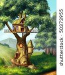 Fantasy House Built On A Tree....