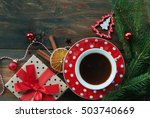 Christmas Cup Of Tea With Gift...