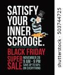 black friday super sale... | Shutterstock .eps vector #503744725