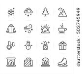 Winter icons with White Background | Shutterstock vector #503745949