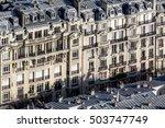 a typical haussman building ... | Shutterstock . vector #503747749