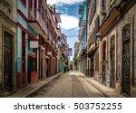 old havana downtown street  ...   Shutterstock . vector #503752255