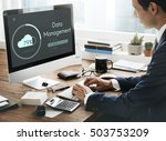 cloud storage upload interface... | Shutterstock . vector #503753209