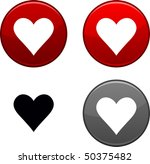 love round buttons. black icon... | Shutterstock .eps vector #50375482