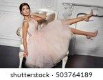 fashion interior portrait of... | Shutterstock . vector #503764189