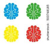 brain ikons. blue. green.... | Shutterstock .eps vector #503768185
