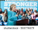 Small photo of Hillary Clinton speaks at St. Anselm College in Manchester, New Hampshire, on October 24, 2016.