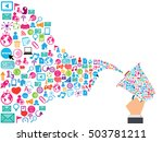 megaphone and cloud technology... | Shutterstock .eps vector #503781211