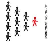 leadership business concept... | Shutterstock .eps vector #503782249