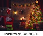 happy holiday  a beautiful... | Shutterstock . vector #503783647