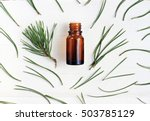 Bottle Of Essential Oil  Pine...