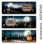 Three Holiday Halloween Banner...