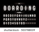 vector of stylized flip board... | Shutterstock .eps vector #503788039