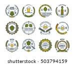 outline colorful vector beer... | Shutterstock .eps vector #503794159