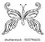 vector black and white ... | Shutterstock .eps vector #503796631