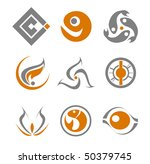 set of different abstract... | Shutterstock . vector #50379745