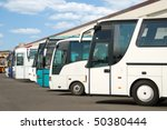 Tourist Buses On A Parking...
